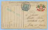 CARTOLINA FRANCHIGIA LEONI C.5 ISOLATO ANNULLO P.M. 8^ CORPO D' ARMATA 7.11.16  E LINEARE DI CENSURA OTTIMA QUALITÀ(C296 - 1900-44 Vittorio Emanuele III