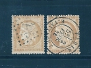 France Type Ceres N°55 Et 59  15ct Bistre Oblitéré Tres Beau - 1871-1875 Cérès
