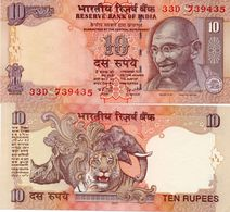 INDIA  10 RUPEES 2007  GHANDI W Holes - India