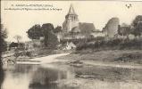 03 - AINAY-LE-CHATEAU - Les Remparts Et L'Eglise, Vus Des Bords La Sologne - France