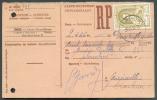 Affranchissement U.P.U. - Carte-recépissée  De NAMUR Le 29-5-1952 Vers Marcinelle - 7567 - Bélgica