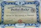LOT  5   Societe Franco Brésilienne Du Pathé Baby  Cinema - Shareholdings