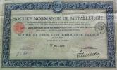 Societe Normande De Métallurgie - Aandelen