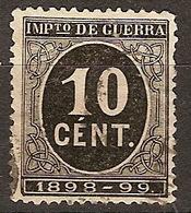 España Impuesto De Guerra U 22 (o) Cifra. 1898 - Impuestos De Guerra