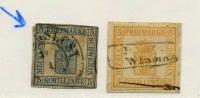 Armoiries, Mi 2 Et 3, K.W:  405 €, - Mecklenburg-Schwerin