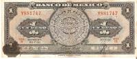 BILLETE DE MEXCIO DE 1 PESO DEL AÑO 1959  (BANK NOTE) - México