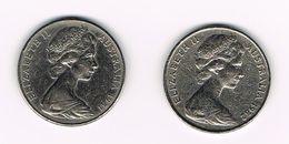 )  AUSTRALIE  2 X 20 CENTS  1981/82 - Monnaie Décimale (1966-...)