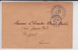 TUNISIE - 1940 - ENVELOPPE Avec OBLITERATION NAVALE De KAROUBA Pour BIZERTE - Marcophilie (Lettres)
