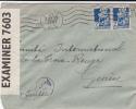 1943 - ENVELOPPE De ORAN Avec DOUBLE CENSURE ANGLAISE + ALLEMANDE Pour La SUISSE - Lettres & Documents