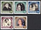 Tuvalu - 1987 - 40e Ann Du Mariage Reine Elisabeth II - 5v Neufs ** // Mnh - Tuvalu