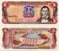 DOMINICAN REP.    5 Pesos Oro      P-152a      1997      UNC - Dominicana