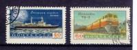 URSS35) 1958 Expo' Industriale Sovietica Unificato Serie Cpl 2 Val 2138 - 39 Used - Usati