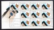 Canada Scott #1338a MNH 40c Queen's University Booklet Pane Of 10 Plus 2 Labels - Pages De Carnets
