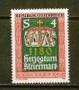 AUSTRIA 1980 MNH Stamp(s) Steiermark 1648 - 1945-.... 2nd Republic