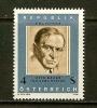 AUSTRIA 1981 MNH Stamp(s) Otto Bauer 1678 - 1945-.... 2nd Republic