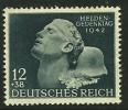GERMANIA - 3° REICH 1942 - EROI - N. 736 **, Serie Compl. - Cat. 2,20 € - L. N. 4437 - Germania