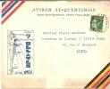 AVIRON- ROWING - Lettre à En-tête Aviron St-Quentinois Vers La Belgique (1936) - Rowing
