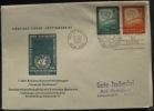 UNO 343 New York 24.10.1957 FDC Deutsche Gesellschaft - Sin Clasificación