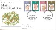 FDC - Music, British Conductors - 1971-1980 Em. Décimales