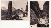 VALLE D´AOSTA  - Pre Saint Didier- N. 2 Foto Formato  8,50 X 11  Documentate - Pelissieu E Orrido - Aosta