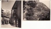 VALLE D´AOSTA  - Courmayeur -N. 2 Foto Formato  8,50 X 11  Documentate - Panorama E Uscita Dal Tempio - Aosta