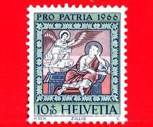 SVIZZERA - Usato - 1966 - Pro Patria - Dipinti Di Federer - Chiesa Di S. Martino Di Zillis - Sogno Di Giuseppe - 10+10 - Pro Patria