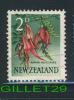 NEW ZEALAND, STAMP - FLOWER, KOWHAI-NGUTU-KAKA - 2d, 1960, SG 783 - USE - - Unclassified