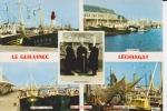 CPSM LE GUILVINEC LECHIAGAT FINISTERE Phare Port Flotille Bigoudennes   Si Bandes Jaunes Dues Au Scan - Guilvinec