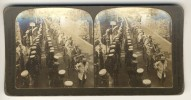 Japan (~1900´s) Buddhist Priests In Funeral Procession - Port Arthur (´Perfec´ Stereograph - H.C. White) - Stereoscoop