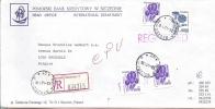 Lettre De Banque, Recommandée De Szczecin (PL) à Bruxelles (B) - 1944-.... République