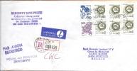Lettre De Banque, Recommandée De Gdansk (PL) à Bruxelles (B) - 1944-.... République