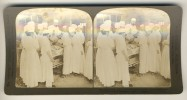 Japan (~1900's) Surgeons Operating On Russian Soldier - Hospital, Matsuyama ('Perfec' Stereograph - H.C. White) - Stereoscoop