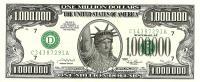 USA $1.000.000 FUNNY MONEY STATUE OF LIBERTY FRONT 4 PRESIDENTS HEADS BACK SERIES 2001 READ DESCRIPTION CAREFULLY !! - Estados Unidos
