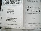 MANTOVA ORARIO TRENI  FERROVIE SUZZARA 1975 DQ7401 - Europa