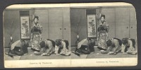 Japan (~1900´s) Ceremony At Tea Visit - Stereoscoop