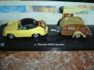 Porsche 356 B Cab + Caravane - Cararama (Oliex)