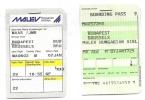 Boarding Pass - Vol Budapest-Brussels Malev MA 602 - 07JAN 1998 - Instapkaart