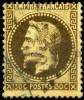 Mi.N°29b  Maury N° 30b Brun-noir Gestempelt / Obliter Napoleon III. Laure Avec : Rechts 130 C. Statt 30 C. Et Erreurs De - 1863-1870 Napoléon III. Laure