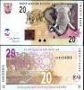 SOUTH AFRICA 20 RAND 2005 P 129 UNC - South Africa