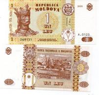 MOLDOVA MOLDOVIA 1 LEU 2010  UNC - Moldavia