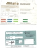 Boarding Pass - Alitalia - Brussels-Milano_Brussels - AZ0273/AZ0272 - 21-22MAR1994 - Instapkaart