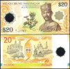 BRUNEI 20 RINGGIT POLYMER Comm. 2007 P 34 UNC - Brunei