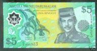 BRUNEI NOTE 5 RINGGIT 2002 PICK # 23 UNC. - Brunei