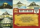 CPSM Du MONT SAINT-MICHEL (50) : Perle De La Côte D'Emeraude - 5 Vues . - Le Mont Saint Michel