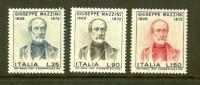ITALIA 1972 MNH Stamp(s) Mazzini 1358-1360 - 6. 1946-.. Republic