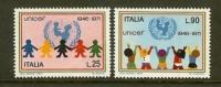 ITALIA 1971 MNH Stamp(s) UNICEF 1351-1352 - 1971-80: Mint/hinged