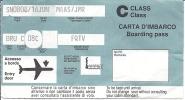 Boarding Pass Milan LIN - Brussels - SN808 - 16JUN94 - Instapkaart