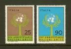 ITALIA 1970 MNH Stamp(s) 25 Years U.N.O. 1319-1320 - 6. 1946-.. Republic