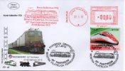 FS E 636.002 Ema Treni Specimen Mostra Filatelica Ferroviaria Treno Rotabili Specimen Ufficiale - Affrancature Meccaniche Rosse (EMA)