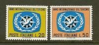 ITALIA 1967 MNH Stamp(s) Tourism Year 1243-1244 - Holidays & Tourism
